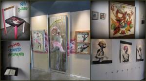 """Exposición """"Dinamica, Tránsito, Crecimiento"""", de los grafiteros Vinz, Deih y Julieta"""