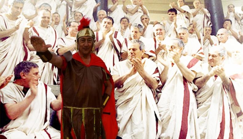 Miguel en el senado romano.