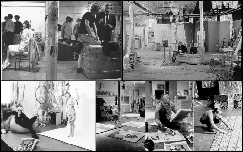 Warhol en su estudio de Nueva York, The Factory.