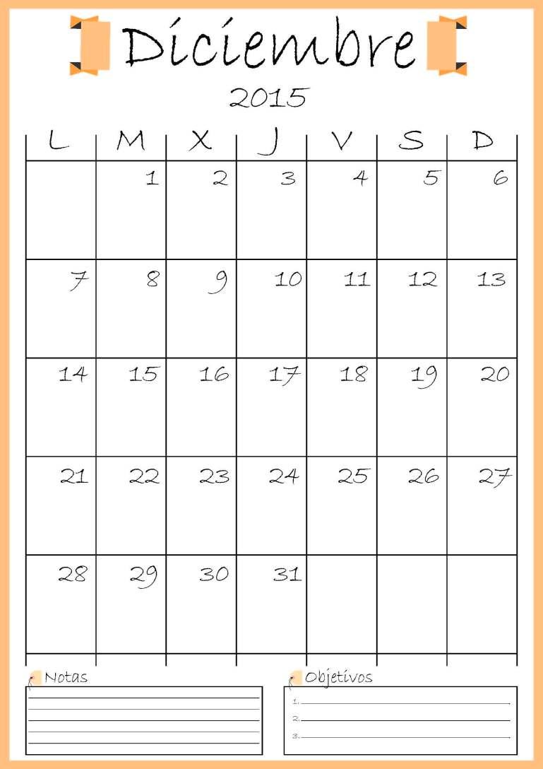 calendario diciembre addarq