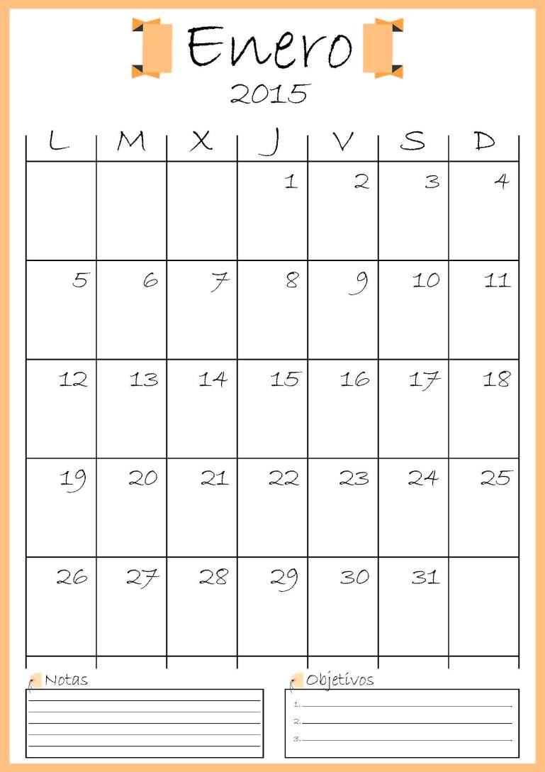 calendario enero addarq