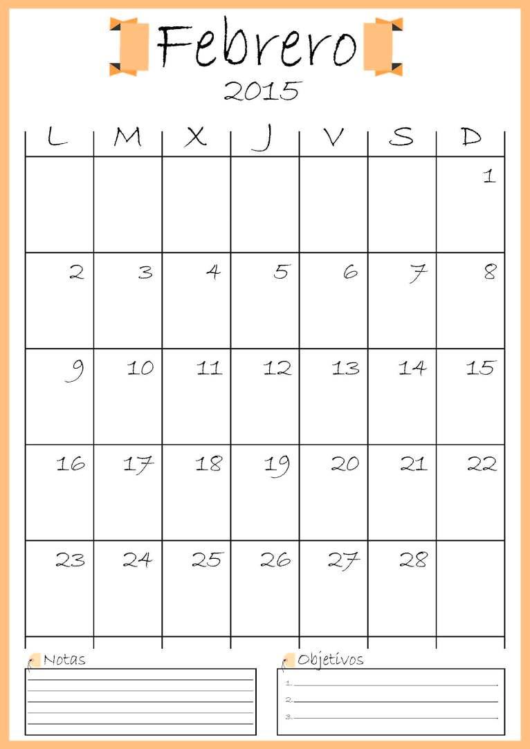 calendario febrero addarq