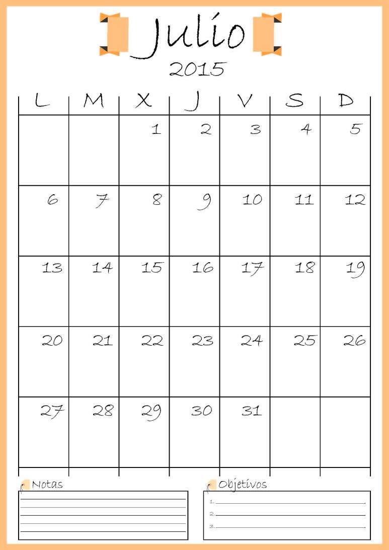 calendario julio addarq