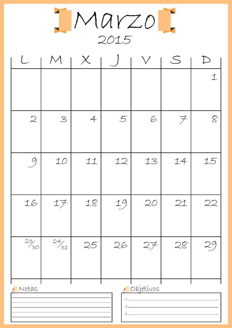 calendario marzo addarq
