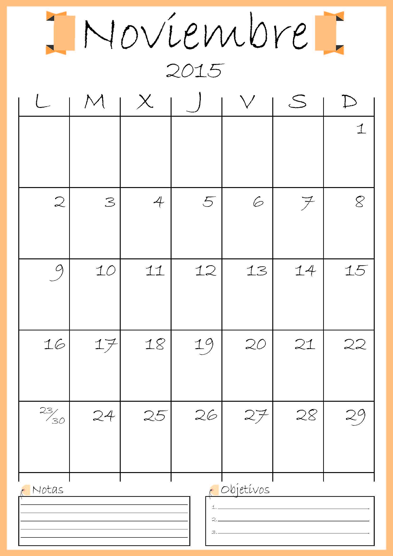 Calendario Descargable 2015 Ddarq