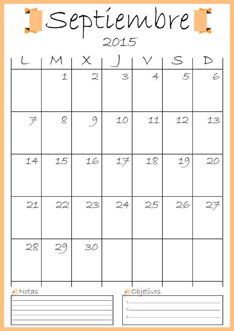 calendario septiembre addarq
